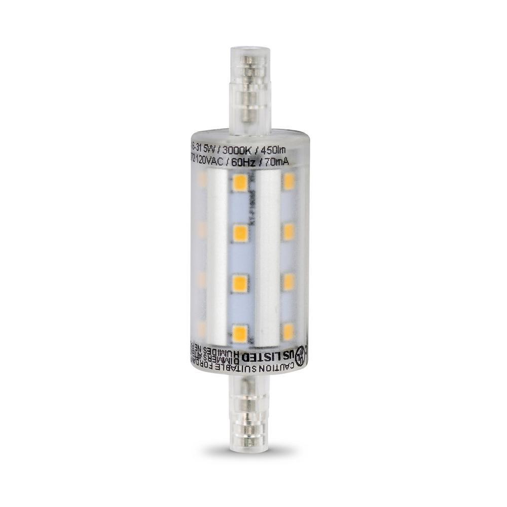 100-Watt Equivalent Bright White (3000K) R7S 78MM R7 Base LED Light Bulb