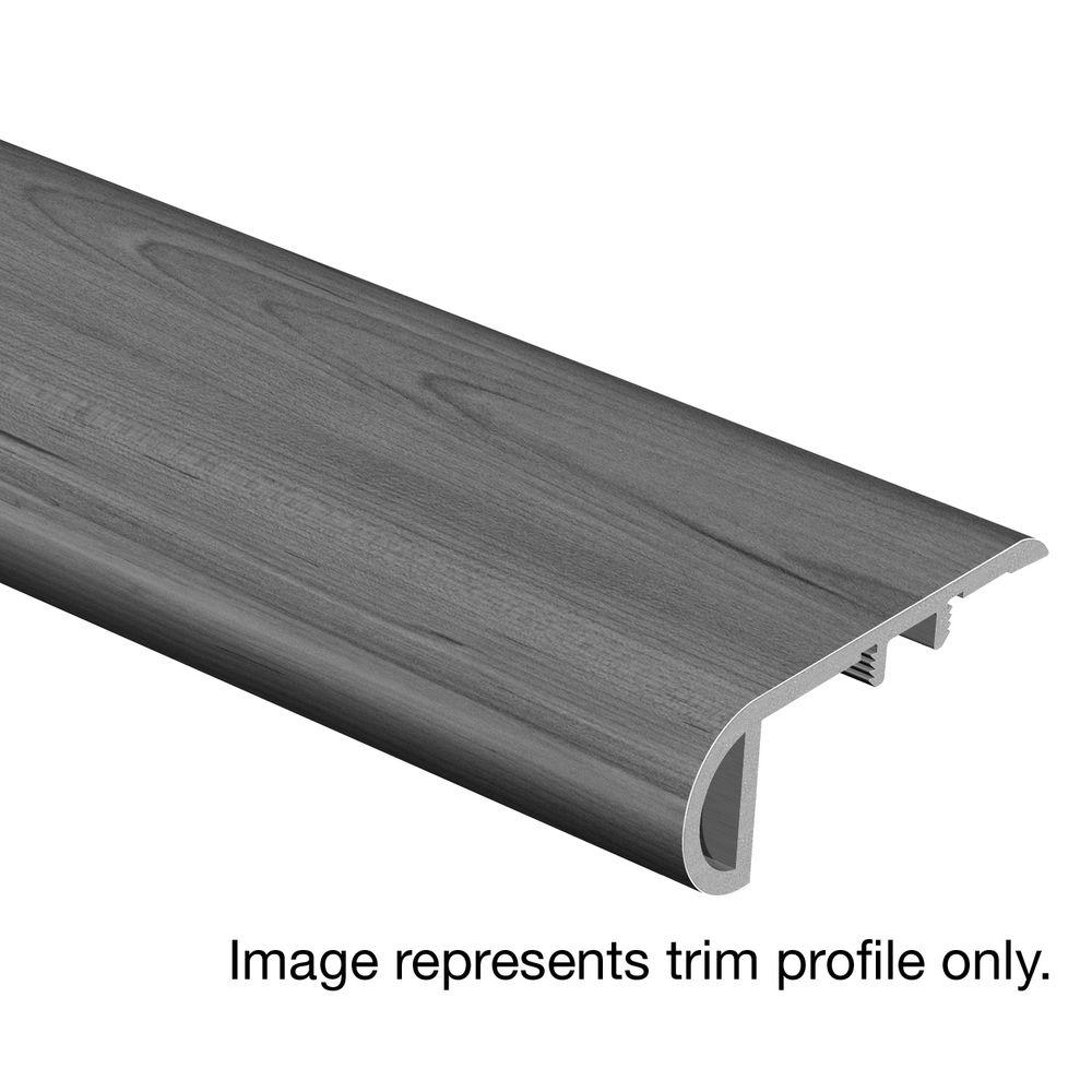 Zamma Smoked Oak Coffee 3/4 in. Thick x 2-1/8 in. Wide x 94 in. Length Vinyl Stair Nose Molding