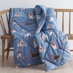 LoftAIRE Holiday Dogs Cotton Throw Blanket