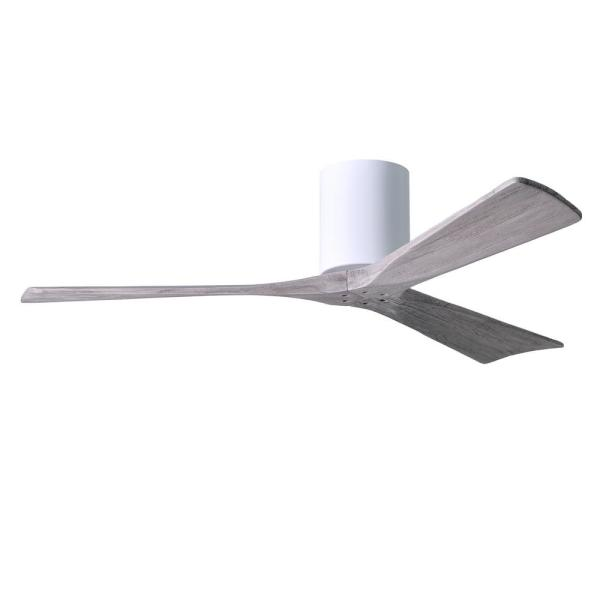 Irene 52 in. Indoor/Outdoor Gloss White Ceiling Fan with Remote Control and Wall Control