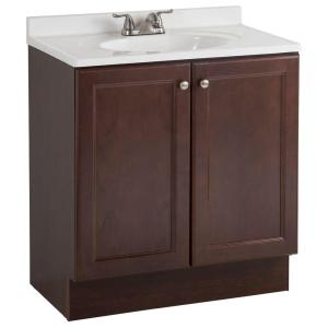 Glacier Bay All-In-One 30 inch W Bath Vanity Combo in Chestnut with Cultured Marble Vanity... by Glacier Bay