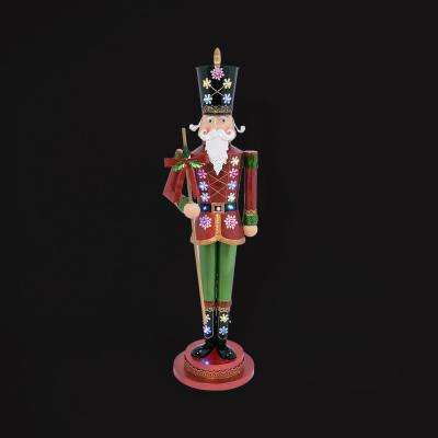 52 in. H Metal Battery-Operated Outdoor Toy Soldier with Lights