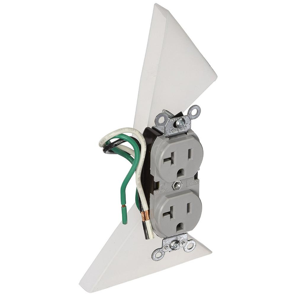 Leviton 20 Amp Commercial Grade Duplex Outlet with Leads,...