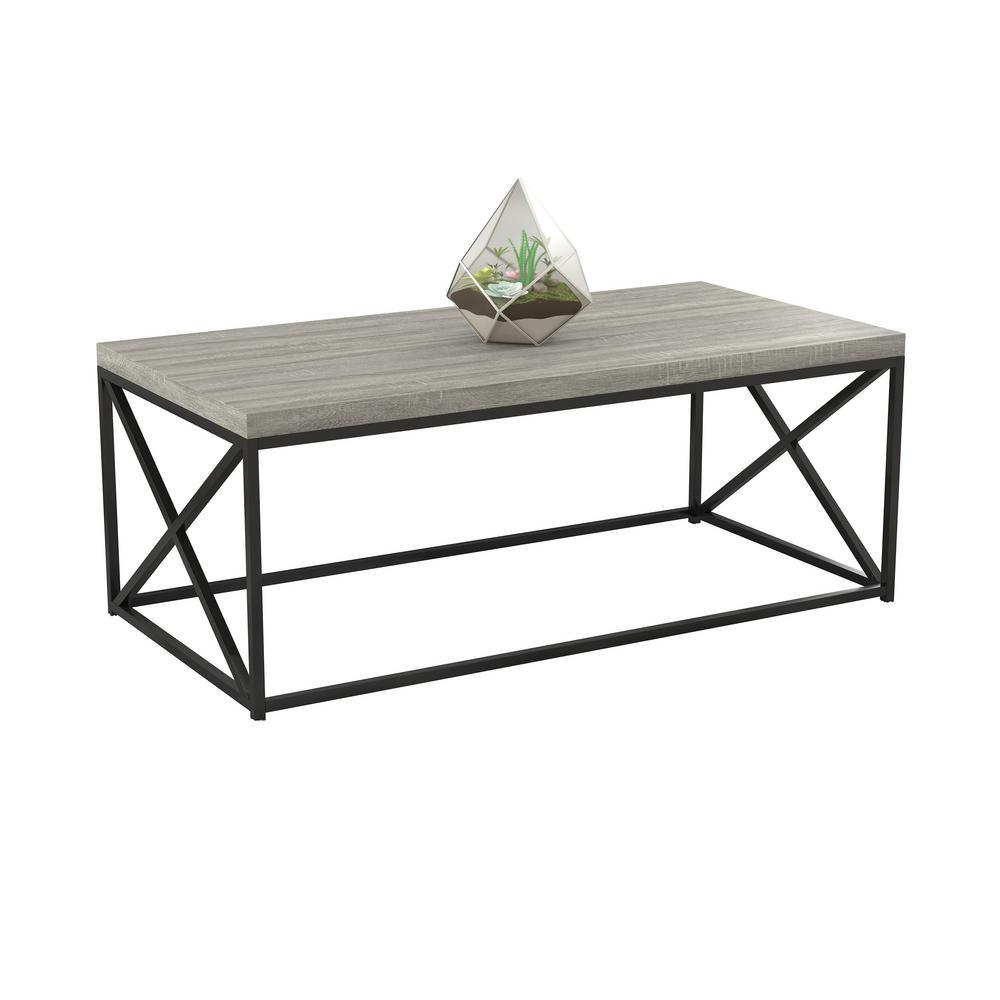 Cozy Home Grey Wood Coffee Table