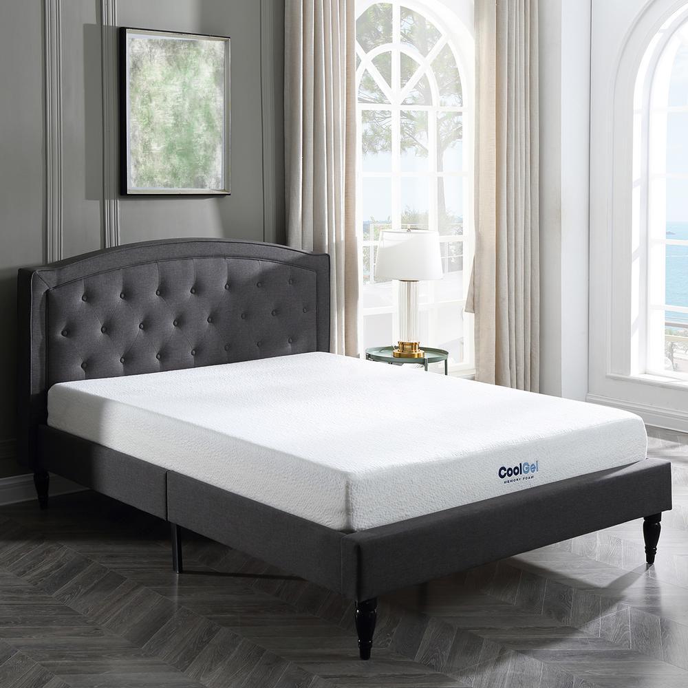 cool gel cool gel full size 8 in gel memory foam mattress 410069 1130 the home depot. Black Bedroom Furniture Sets. Home Design Ideas