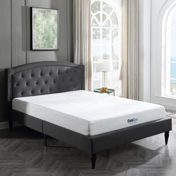 Cool Gel Cool Gel Queen Size 8 In Gel Memory Foam Mattress 410069