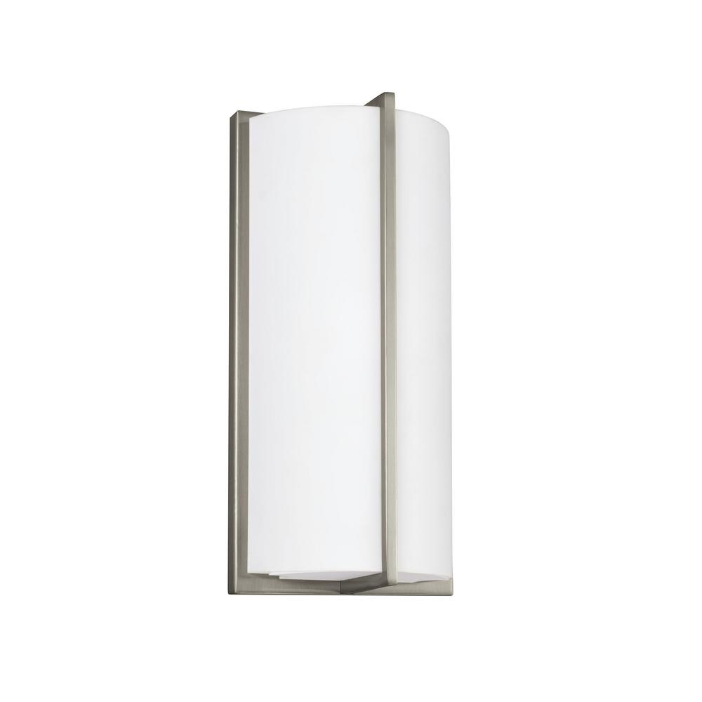 brand new 16df1 57c1e Sea Gull Lighting ADA Wall Sconces 14-Watt Brushed Nickel Integrated LED  Sconce