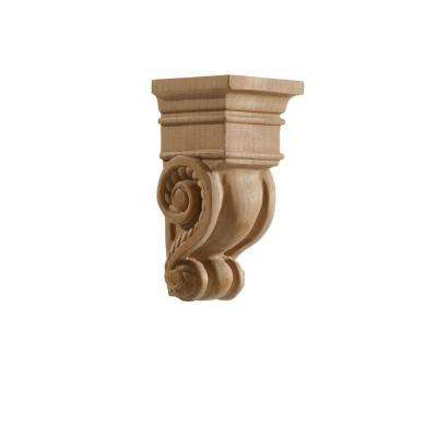 2.875 in. x 6 in. x 6 in. Cherry Carved Small Rope Corbel