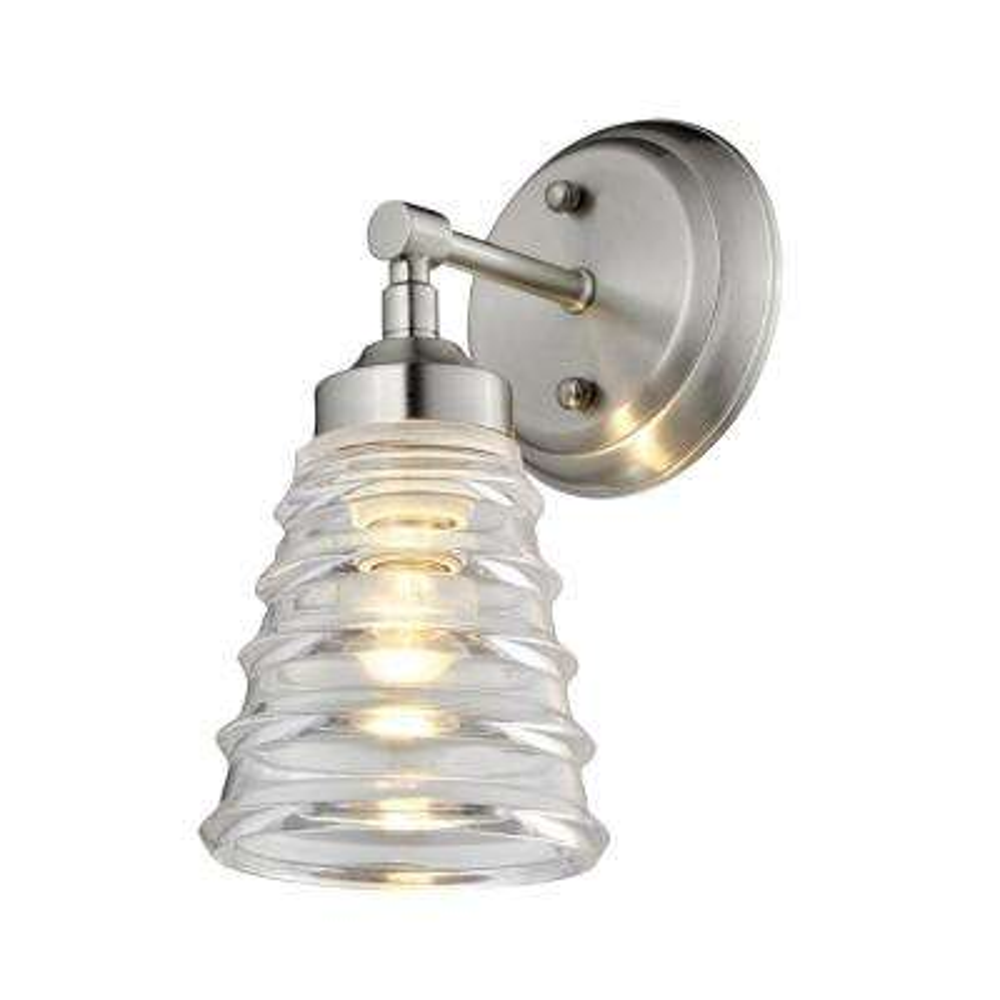 Amherst 1-Light Brushed Nickel Bath Light