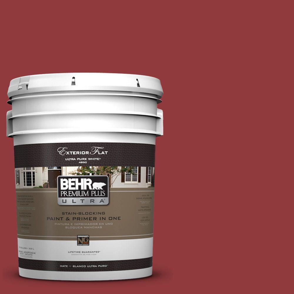 BEHR Premium Plus Ultra 5-gal. #UL110-18 Cherry Tart Flat Exterior Paint