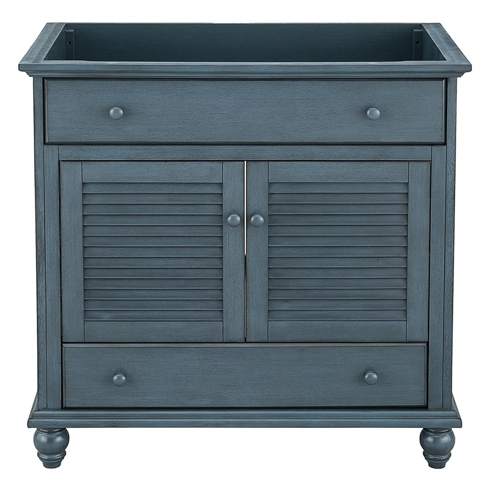 Home Decorators Collection Cottage 36 in. x 21-5/8 in. Vanity Cabinet Only in Harbor Blue