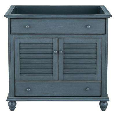 Cottage 36 in. x 21-5/8 in. Vanity Cabinet Only in Harbor Blue