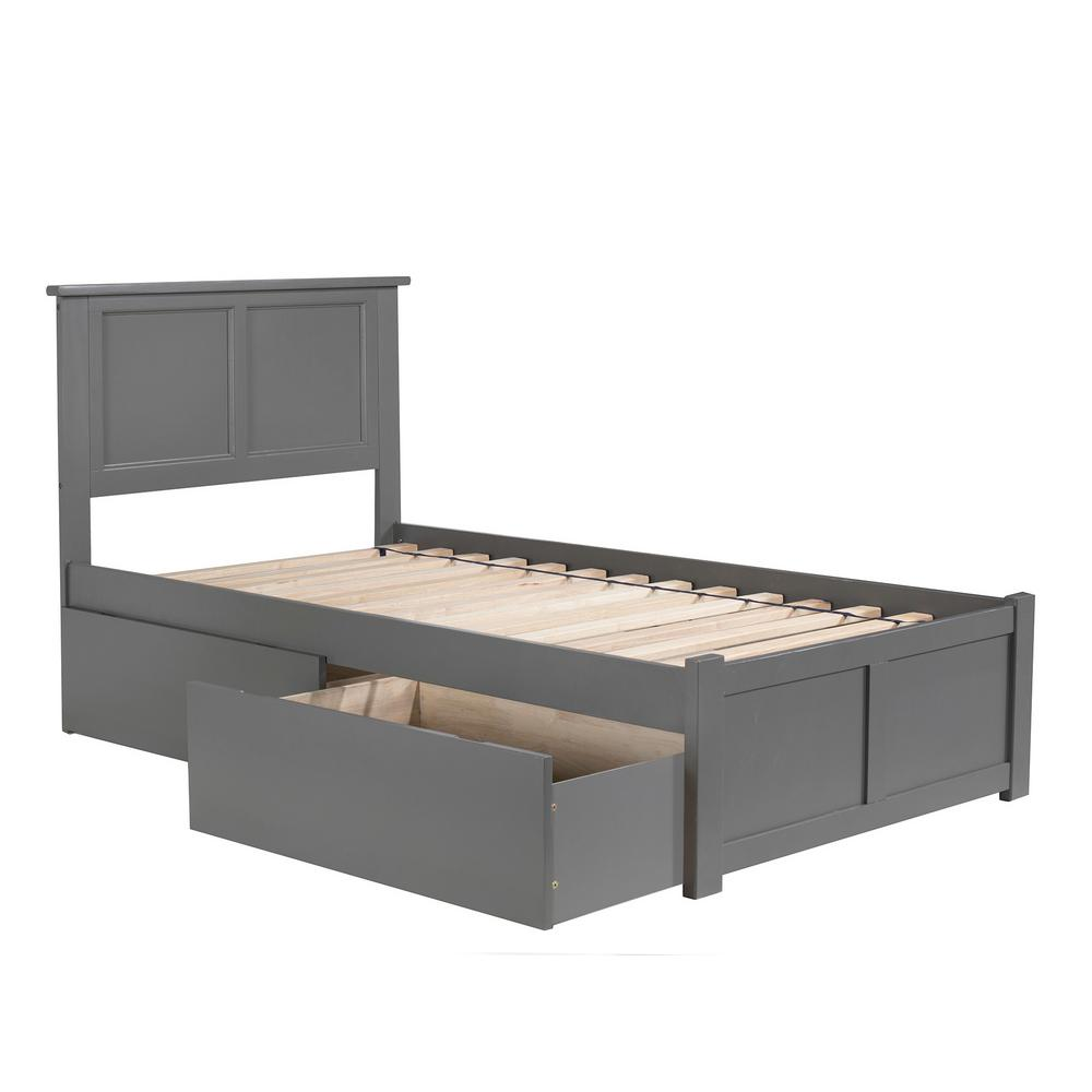 Atlantic Furniture Madison Twin Xl Platform Bed With Flat Panel Foot