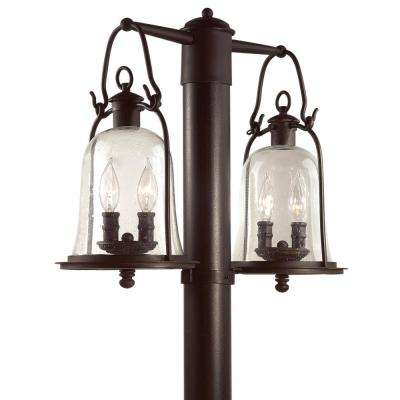 Owings Mill 4-Light Outdoor Natural Bronze Post Light
