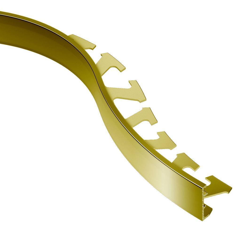 Schiene Solid Brass 1 in. x 8 ft. 2-1/2 in. Metal Radius Tile Edging Trim