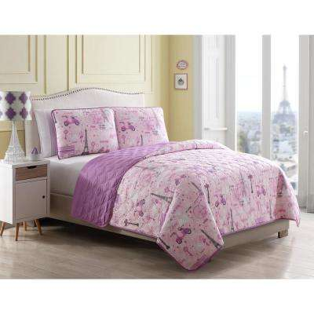 Morgan Home Magical Paris Full/Queen 3-Piece Quilt Set