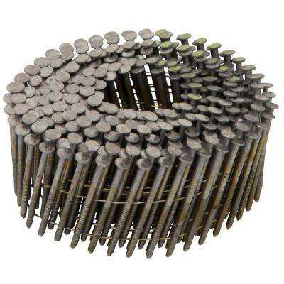 1-3/4 in. x 0.092 in. 15-Degree Ring Shank Metal Coil Siding Nails (3600 per Box)