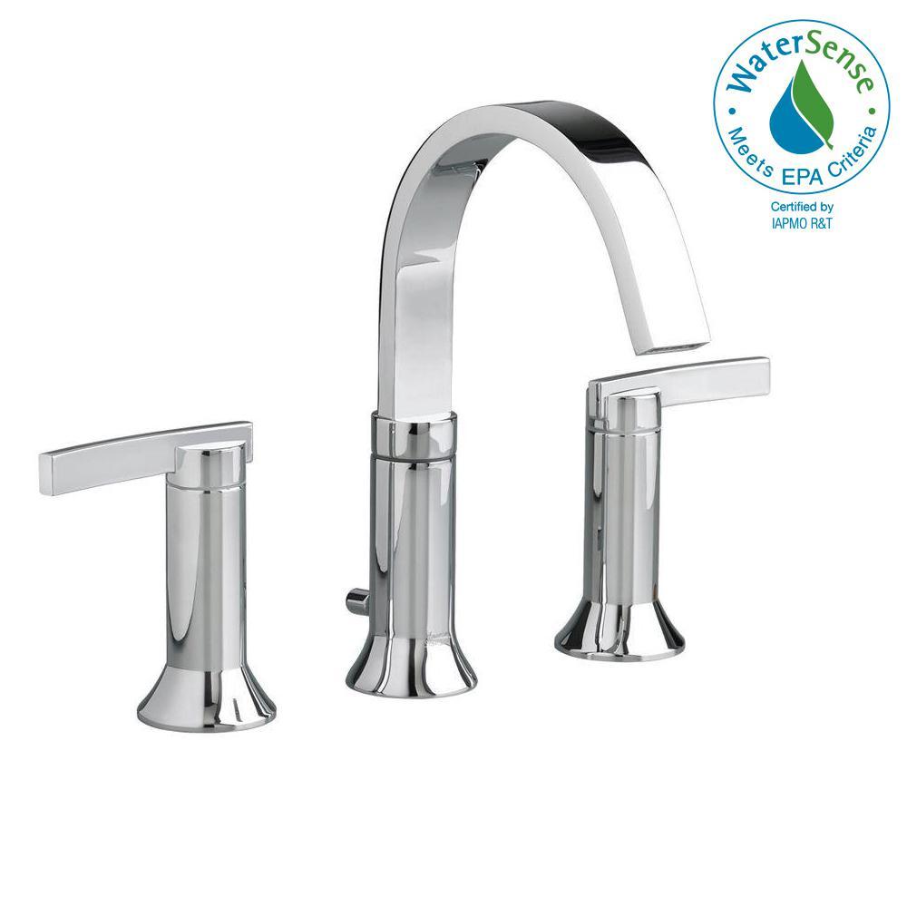 American standard berwick 8 in widespread 2 handle high arc bathroom faucet in