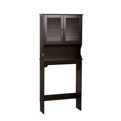 Ellsworth 27-9/25 in. W x 63-7/10 in. H x 9-1/4 in. D 2-Door Over the Toilet Storage Cabinet in Espresso