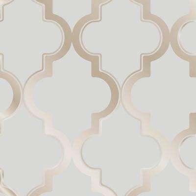 Marrakesh Bronze Gray Self-Adhesive Removable Wallpaper