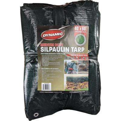 40 ft. x 60 ft. Dark Green Medium Duty Silpaulin Tarp