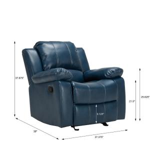 Surprising Clifton Navy Blue Faux Leather Recliner 8070 10 The Home Depot Gmtry Best Dining Table And Chair Ideas Images Gmtryco