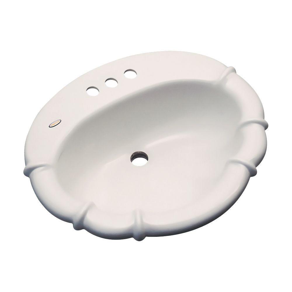 Magnolia Drop-In Bathroom Sink in Natural