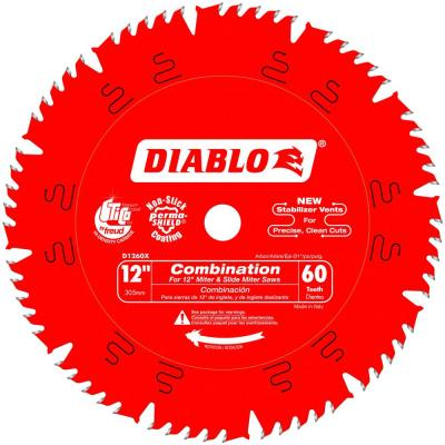 12 in. x 60-Teeth Combination Saw Blade