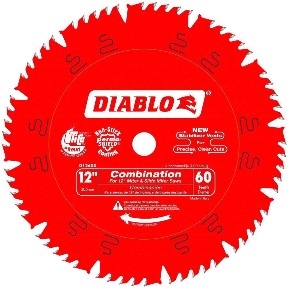 12 in. x 60-Teeth Combination Saw Blade