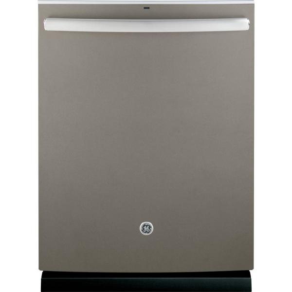 GE Adora Top Control Dishwasher in Slate with Stainless Steel Tub and Steam Prewash, Fingerprint Resistant, 48 dBA