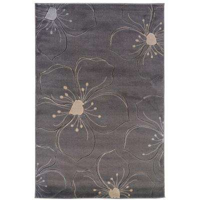 Milan Collection Grey and Ivory 5 ft. x 8 ft. Indoor Area Rug