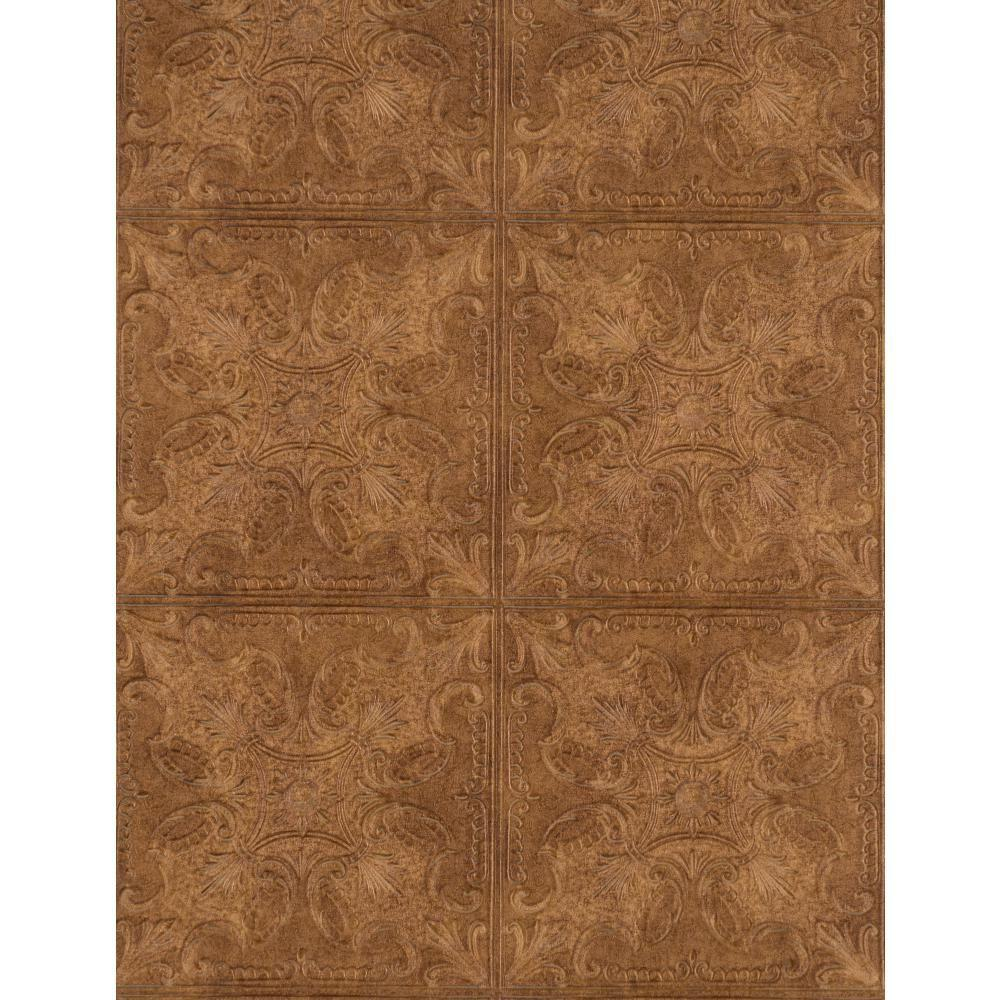 York Wallcoverings Weathered Finishes Tin Tile Wallpaper