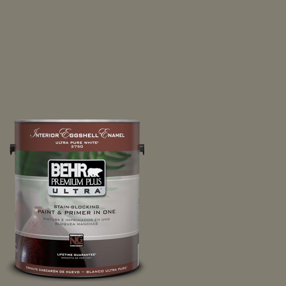 BEHR Premium Plus Ultra 1-Gal. #UL200-3 Manuscript Interior Eggshell Enamel Paint
