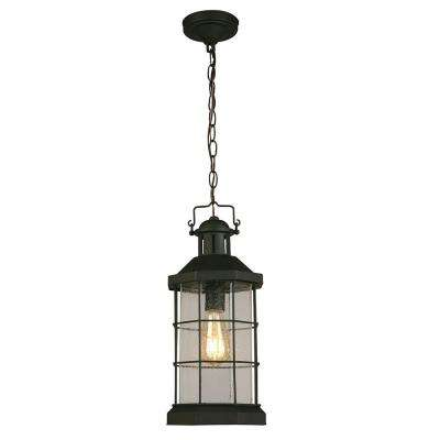 San Mateo Creek Matte Black 1-Light Hanging Light
