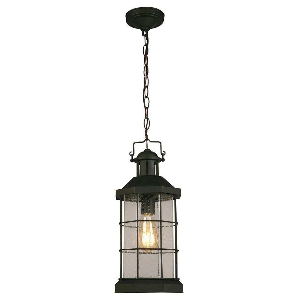 San Mateo Creek Matte Black 1-Light Hanging Light