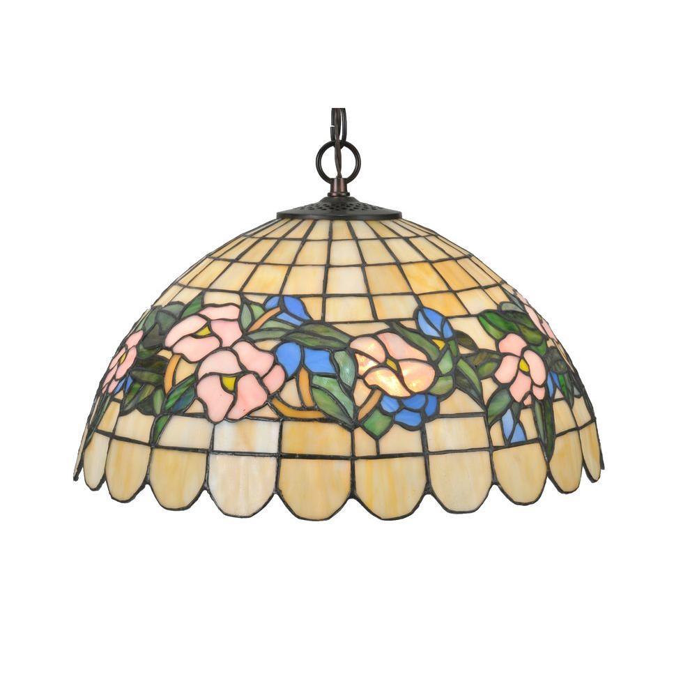 Illumine 3 Light Tiffany Pansy Pendant