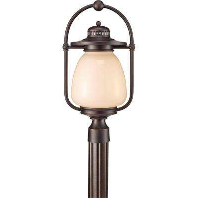 Mc Coy 1-Light Grecian Bronze Outdoor Post Light