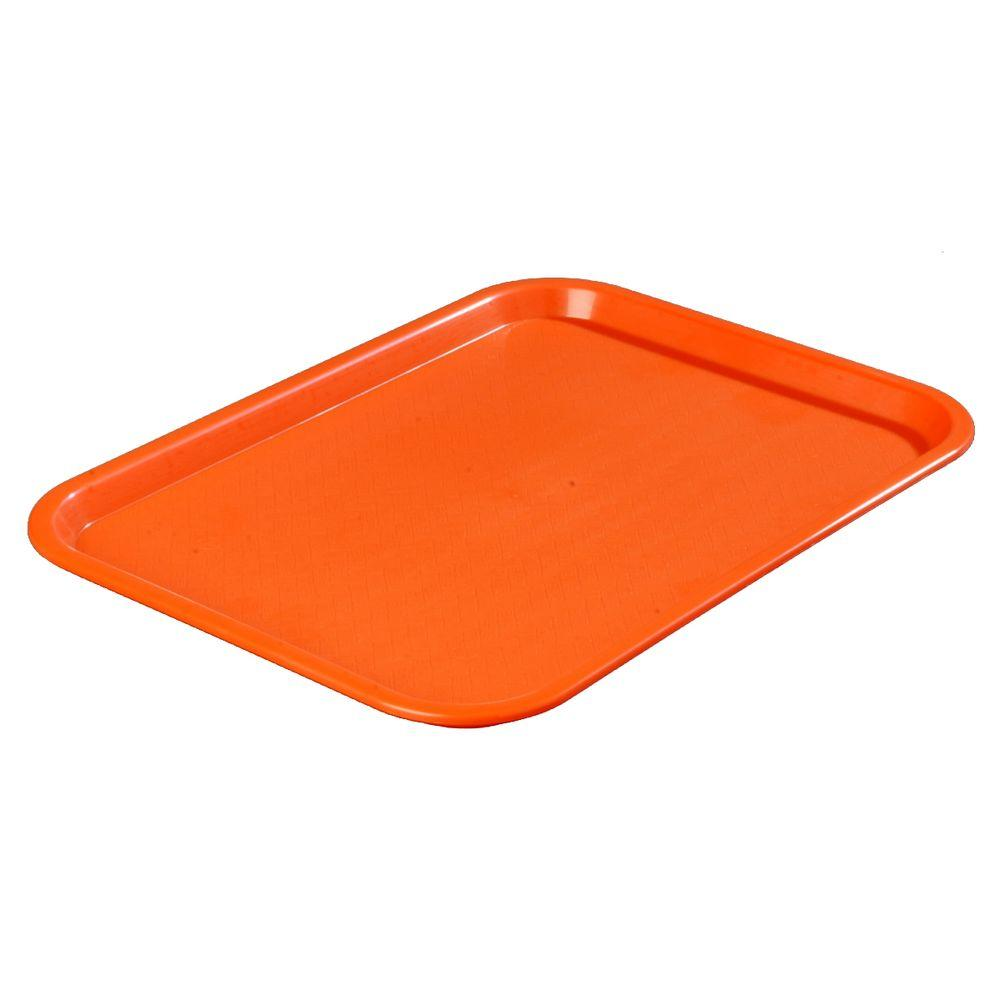 12 in. x 16 in. Polypropylene Serving/Food Court Tray in Orange