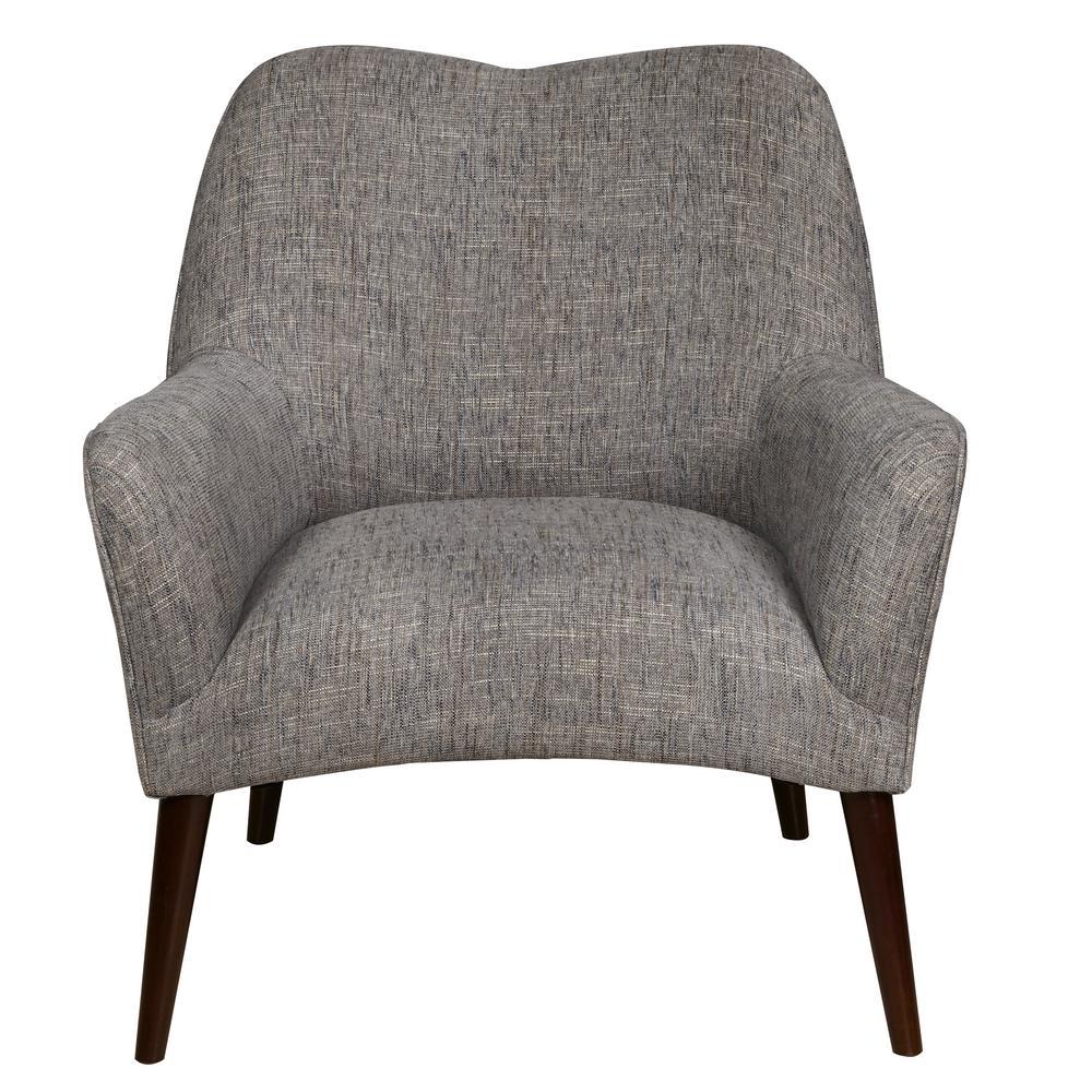 Grey Modern Style Arm Chair