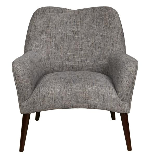 Accentrics Home Grey Modern Style Arm Chair DS-D153-749-618