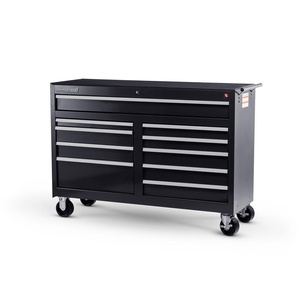 Workshop Series 54 in. 10-Drawer Cabinet, Black