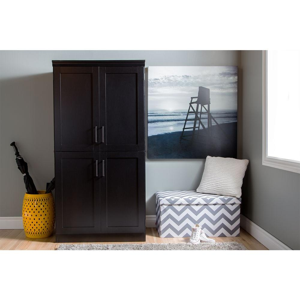 Nice South Shore Morgan Pure Black Armoire