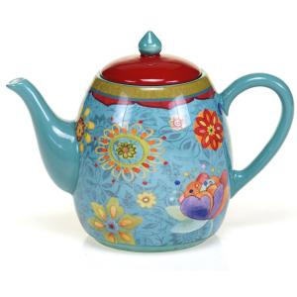 Certified International The Tunisian Sunset Collection 5-Cup Teapot by Certified International