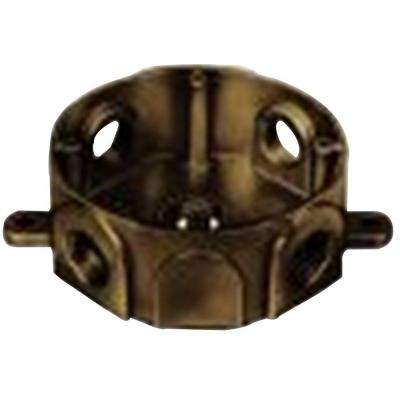 1-Gang Round Weatherproof Electrical Box with 5 1/2 in. Holes - Bronze (Case of 13)