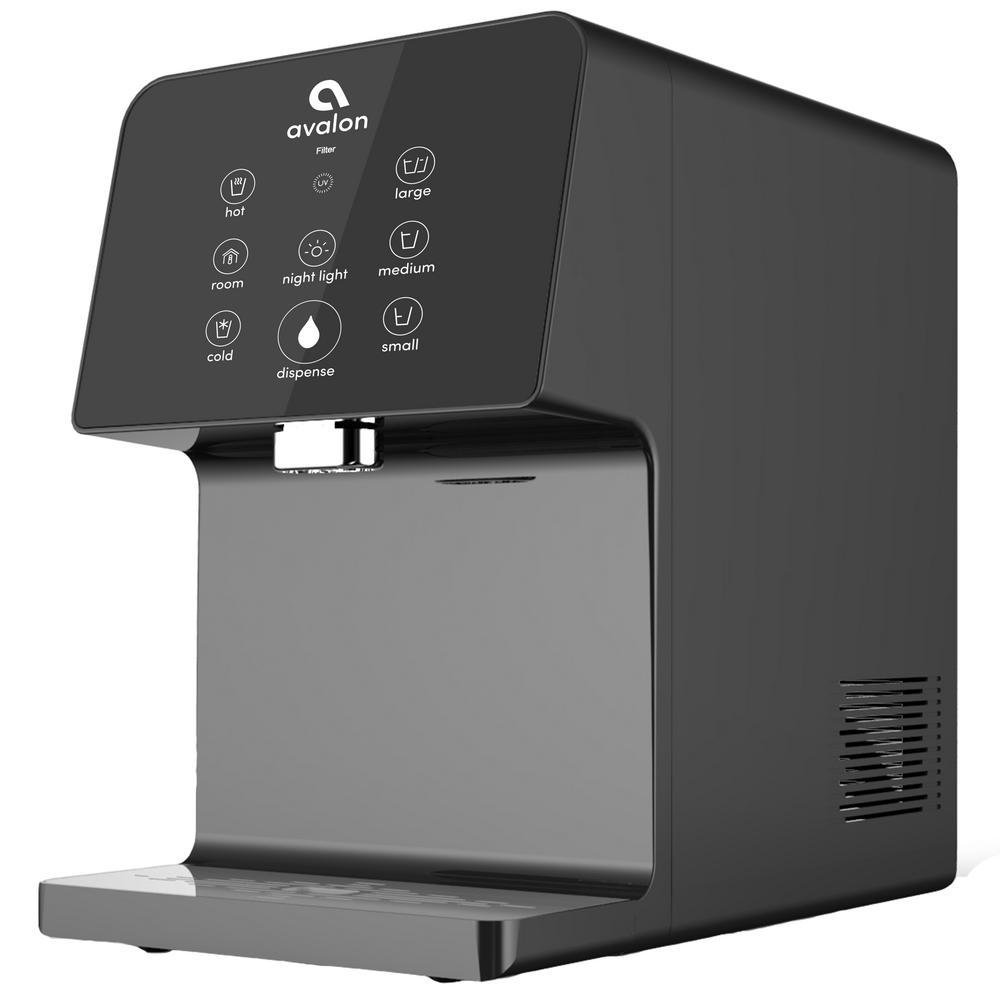 Electric Countertop Bottleless Water Cooler Water Dispenser- Black