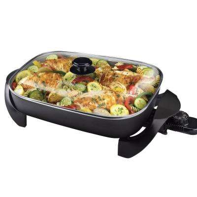 12 in. x 15 in. Electric Skillet in Black