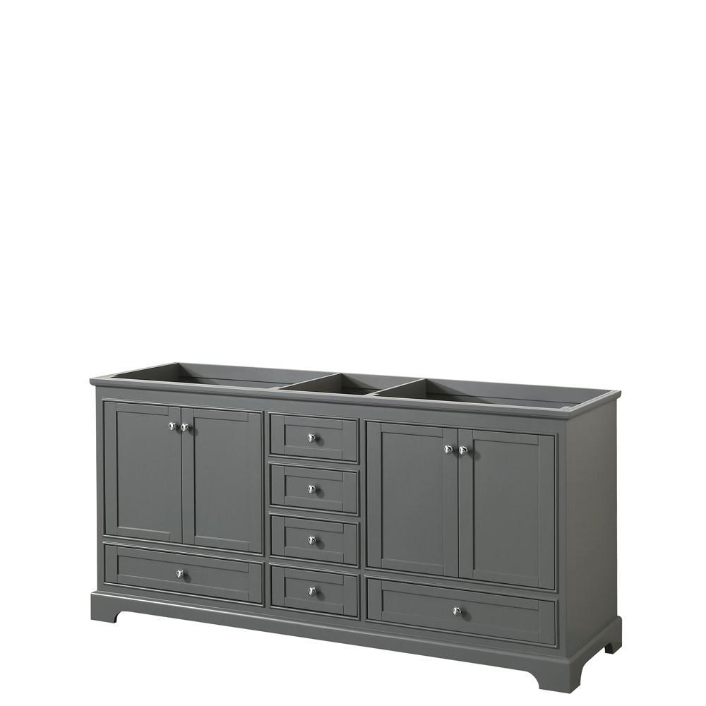 Deborah 71 in. W x 21.5 in. D Vanity Cabinet in Dark Gray