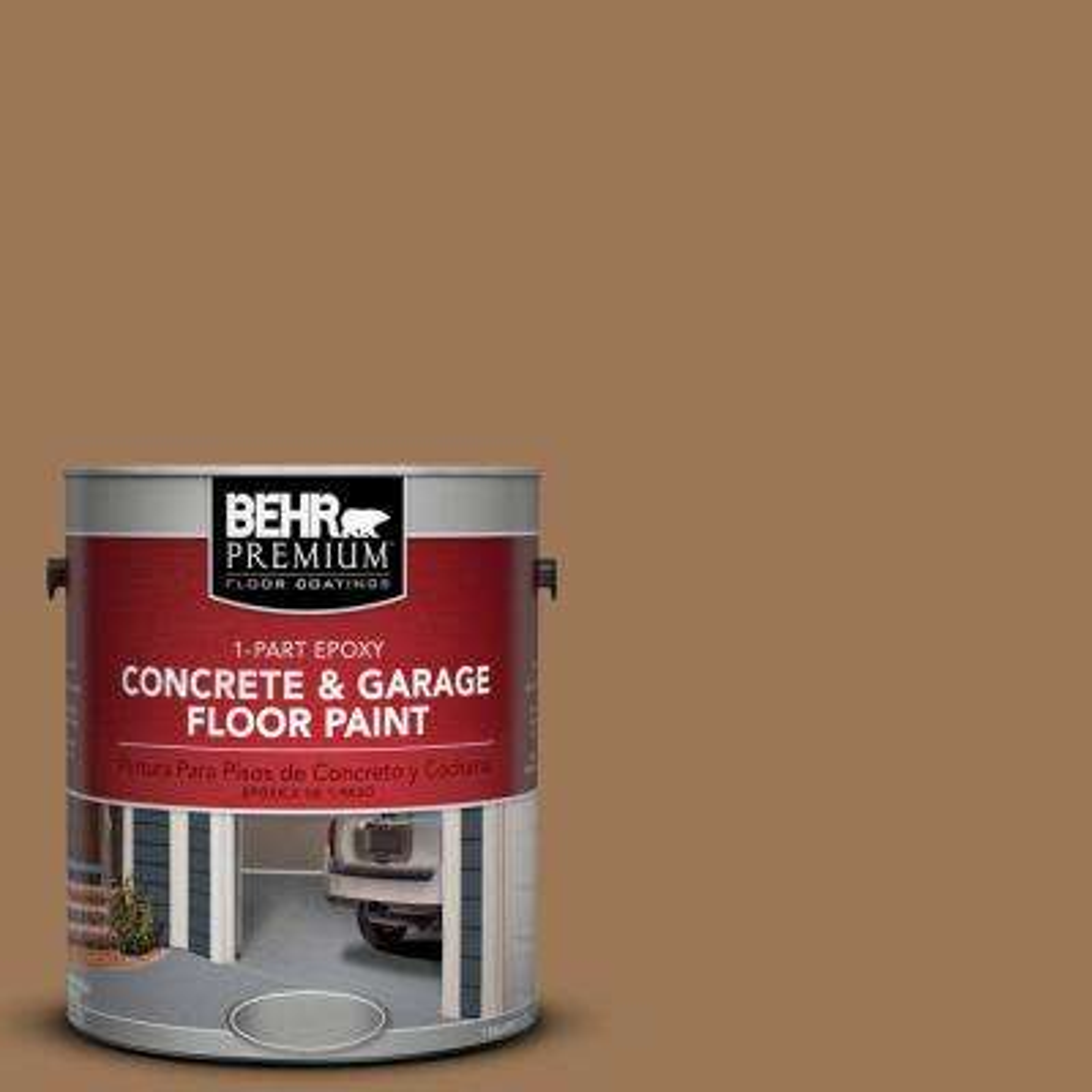 1 gal. #PPU4-2 Coco Rum 1-Part Epoxy Concrete and Garage Floor Paint