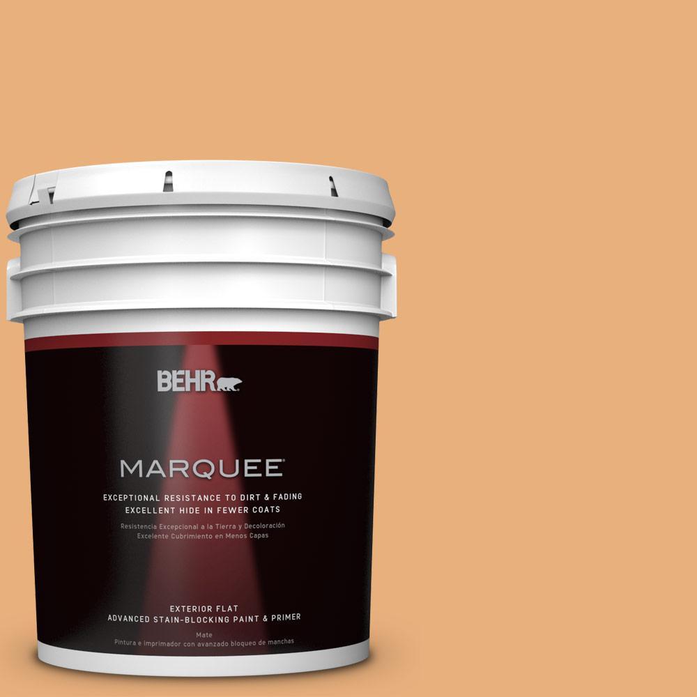 BEHR MARQUEE 5-gal. #M240-5 Squash Bisque Flat Exterior Paint