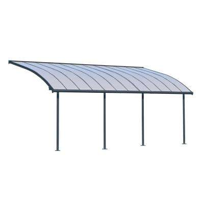 Joya 10 ft. x 24 ft. Grey Patio Cover Awning